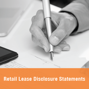 Retail Lease Disclosure Statements